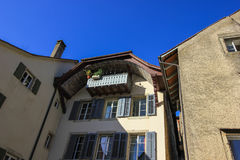 Οδοί και κτήρια από το Αράου, Ελβετία Στοκ Εικόνα