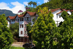 Οδοί και σπίτια Petrópolis, Βραζιλία στοκ εικόνες