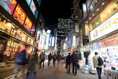 Οδοί νύχτας Akibahara Στοκ εικόνες με δικαίωμα ελεύθερης χρήσης
