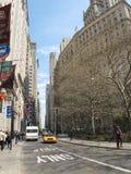 Οδοί στην πόλη της Νέας Υόρκης την άνοιξη Στοκ Φωτογραφίες