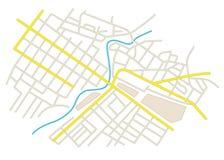 Οδοί στο σχέδιο πόλεων στοκ εικόνα