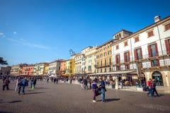 Οδοί της Βερόνα μέχρι την ημέρα Στοκ Φωτογραφία
