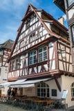 Οδοί της λεπτοκαμωμένης Γαλλίας στο Στρασβούργο altai στοκ φωτογραφία