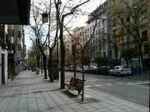Οδοί της Μαδρίτης Στοκ φωτογραφίες με δικαίωμα ελεύθερης χρήσης