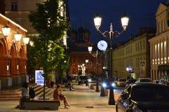 Οδοί της Μόσχας Στοκ Φωτογραφίες