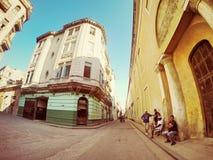 Οδοί της παλαιάς Αβάνας Κούβα Στοκ Εικόνες