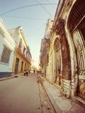 Οδοί της παλαιάς Αβάνας Κούβα Στοκ Εικόνα