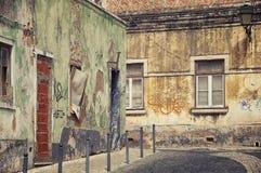 Οδοί της παλαιάς πόλης Faro στο Αλγκάρβε στοκ φωτογραφία