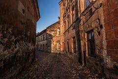 Οδοί της παλαιάς πόλης Vilnius, Λιθουανία Στοκ Φωτογραφίες