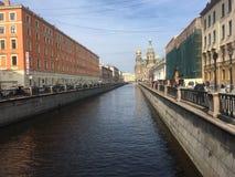 οδοί της Πετρούπολης Άγι&o Στοκ Εικόνα