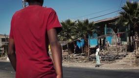 Οδοί της πόλης ginchi στην Αιθιοπία φιλμ μικρού μήκους