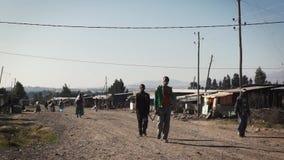 Οδοί της πόλης ginchi στην Αιθιοπία απόθεμα βίντεο