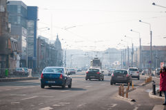 Οδοί του Βουκουρεστι'ου Στοκ φωτογραφία με δικαίωμα ελεύθερης χρήσης