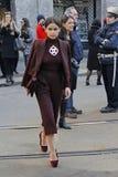 Οδοί του Μιλάνου κατά τη διάρκεια της εβδομάδας μόδας στοκ εικόνες με δικαίωμα ελεύθερης χρήσης
