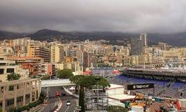 Οδοί του Μονακό πριν από τις φυλές του τύπου 1 Grand Prix de Monac Στοκ φωτογραφίες με δικαίωμα ελεύθερης χρήσης