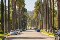 Οδοί του Μπέβερλι Χιλς σε Καλιφόρνια στοκ φωτογραφία