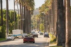 Οδοί του Μπέβερλι Χιλς σε Καλιφόρνια στοκ εικόνες με δικαίωμα ελεύθερης χρήσης