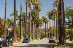 Οδοί του Μπέβερλι Χιλς σε Καλιφόρνια στοκ εικόνα με δικαίωμα ελεύθερης χρήσης