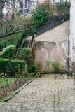 Οδοί του Παρισιού στη βροχή Στοκ Φωτογραφίες