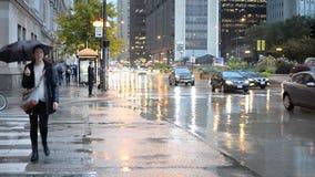 οδοί του Σικάγου απόθεμα βίντεο