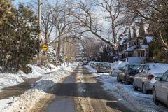 Οδοί του Τορόντου το χειμώνα Στοκ εικόνα με δικαίωμα ελεύθερης χρήσης