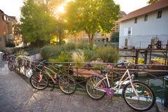 Οδοί του Annecy μια θερινή ημέρα Στοκ φωτογραφία με δικαίωμα ελεύθερης χρήσης