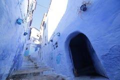Οδοί Chefchaouen Μαρόκο Στοκ Εικόνα