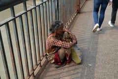 οδοί kolkata επαιτών ικετευμένο στοκ φωτογραφία με δικαίωμα ελεύθερης χρήσης