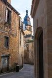 Οδοί Sarlat, μεσαιωνική πόλη, Dordogne, Aquitaine, Γαλλία στοκ εικόνες