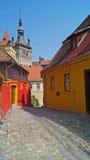 οδοί sighisoara Στοκ εικόνες με δικαίωμα ελεύθερης χρήσης