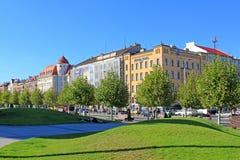 Οδοί WROCLAW στην ΠΟΛΩΝΊΑ - 12 09 2016 Στοκ Εικόνα