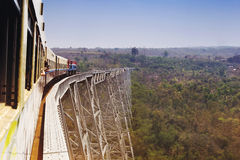 Οδογέφυρα Goteik, κράτος της Shan, το Μιανμάρ (Βιρμανία) στοκ φωτογραφίες με δικαίωμα ελεύθερης χρήσης