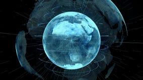 Ολογραφικός πλανήτης Γη από το διάστημα ελεύθερη απεικόνιση δικαιώματος