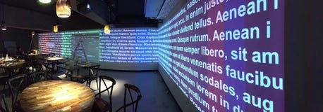 ολογραφικό εστιατόριο Στοκ εικόνες με δικαίωμα ελεύθερης χρήσης