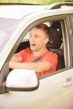 ο οδηγός έχει τη ρόδα Στοκ εικόνες με δικαίωμα ελεύθερης χρήσης