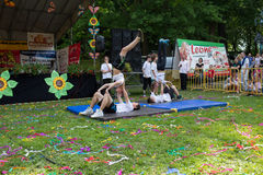 15ο οικογενειακό πικ-νίκ στο πάρκο Orunia Στοκ φωτογραφία με δικαίωμα ελεύθερης χρήσης