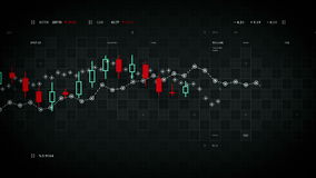 Ο οικονομικός ακολουθώντας Μαύρος στοιχείων απόθεμα βίντεο