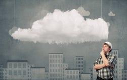 Ο οικοδόμος έχει μια ιδέα Στοκ φωτογραφίες με δικαίωμα ελεύθερης χρήσης