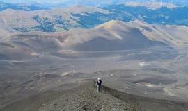 Οδοιπορία ηφαιστείων στη Χιλή στοκ φωτογραφίες με δικαίωμα ελεύθερης χρήσης