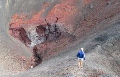 Οδοιπορία ηφαιστείων στη Χιλή στοκ φωτογραφία με δικαίωμα ελεύθερης χρήσης