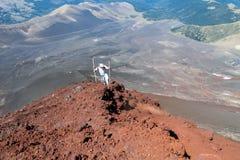 Οδοιπορία ηφαιστείων στη Χιλή στοκ εικόνες με δικαίωμα ελεύθερης χρήσης