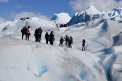 Οδοιπορία παγετώνων στην Παταγωνία Στοκ Φωτογραφία