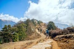 Οδοιπορία στο Νεπάλ Στοκ Εικόνες