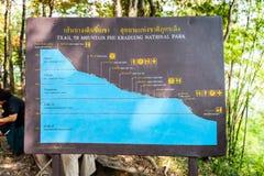 Οδοιπόρος που διασχίζει το σημάδι κατά μήκος του δρόμου στο δάσος στοκ εικόνα με δικαίωμα ελεύθερης χρήσης