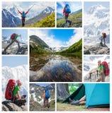 Οδοιπόρος στα βουνά Altai Στοκ φωτογραφία με δικαίωμα ελεύθερης χρήσης