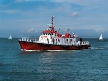 Ολοκαίνουργιο πειραματικό σκάφος στον κόλπο του Σαν Φρανσίσκο Στοκ εικόνα με δικαίωμα ελεύθερης χρήσης