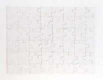 Ολοκληρωμένος άσπρος γρίφος τορνευτικών πριονιών Στοκ Εικόνες