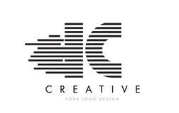 Ολοκληρωμένο κύκλωμα Ι ζέβες σχέδιο λογότυπων επιστολών Γ με τα γραπτά λωρίδες Στοκ φωτογραφία με δικαίωμα ελεύθερης χρήσης