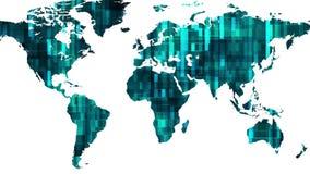 Ο ολογραφικός γήινος χάρτης επίδειξης με τα στοιχεία εμποδίζει κίνησης δυναμικό ζωντανεψοντα ζωηρόχρωμο ποιοτικών καθολικό κινήσε απεικόνιση αποθεμάτων