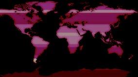 Ο ολογραφικός κόκκινος γήινος χάρτης επίδειξης με τα στοιχεία εμποδίζει νέο δυναμικό ποιοτικών καθολικό κινήσεων υποβάθρου κίνηση διανυσματική απεικόνιση